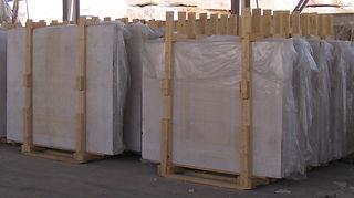 Egyptian marble Slabs packed inside wooden bundles