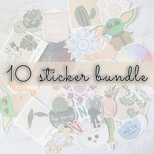 10 Sticker Bundle