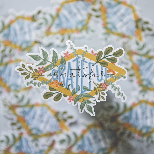 Grateful Flower Sticker (Glossy)