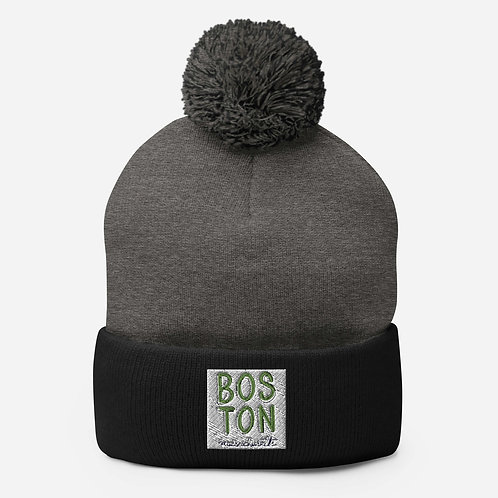 Boston Pom-Pom Beanie
