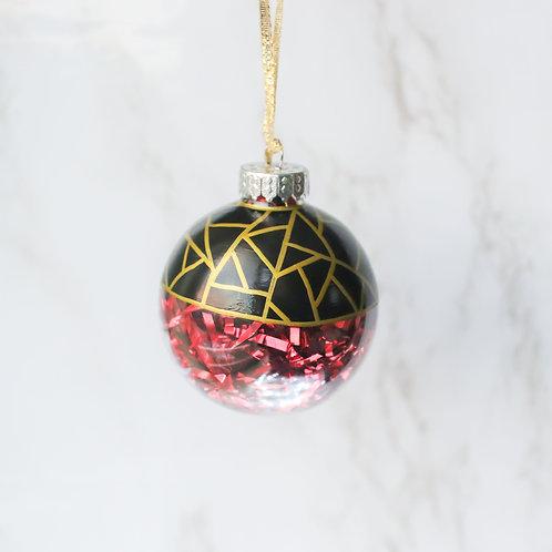 Gold Geometric Tree Ornament