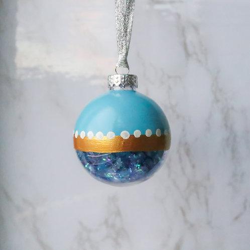 Blue Winter Tree Ornament