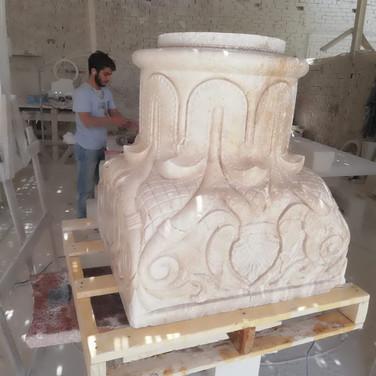 Column crown - Marble Egypt