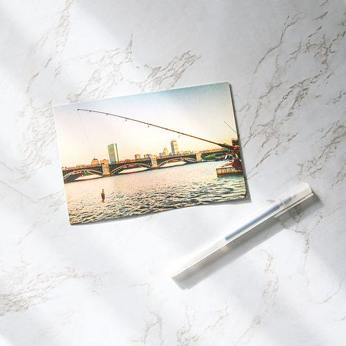 """4"""" x 6"""" Boston Fishing Matte Notecards (Single or Set of 10)"""
