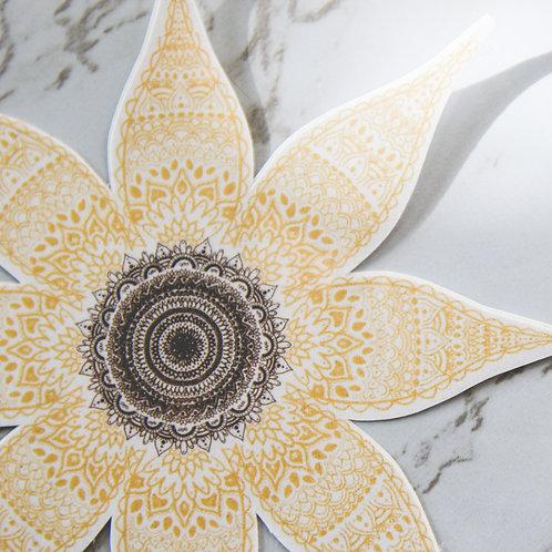 Sunflower Mandala Sticker (Glossy)