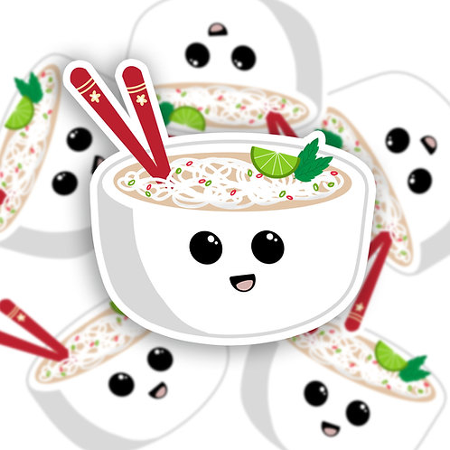 Pho Noodle Bowl Sticker (Glossy)