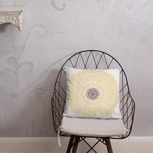 """Sunflower Mandala Throw Pillow (18"""" x 18"""")"""