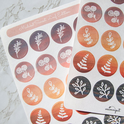 Madaket Sunset Sticker Sheet: Leaf Edition