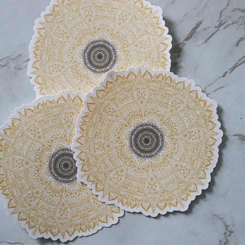 Sunflower Mandala Sticker V2 (Glossy)