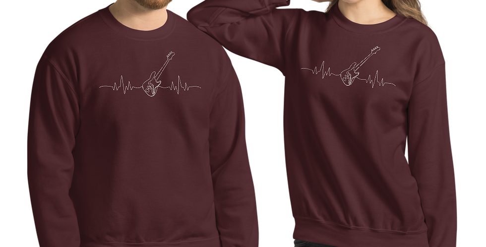 Guitar Heartbeat Sweatshirt