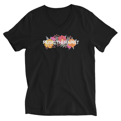 Music Therapist - Floral Tee