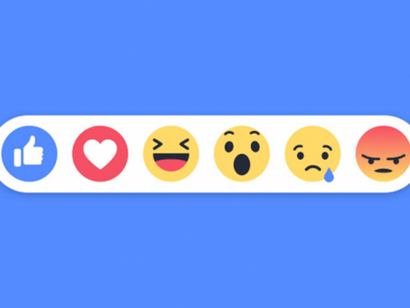 Reactions for comments on Facebook