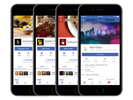 You can now order food from restaurants directly from their Facebook Pages