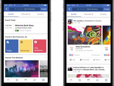 Facebook Updates... Events