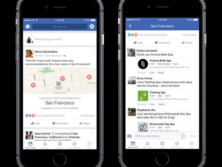 Facebook Updates... Recommendations