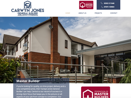 A website update for CJ Builders