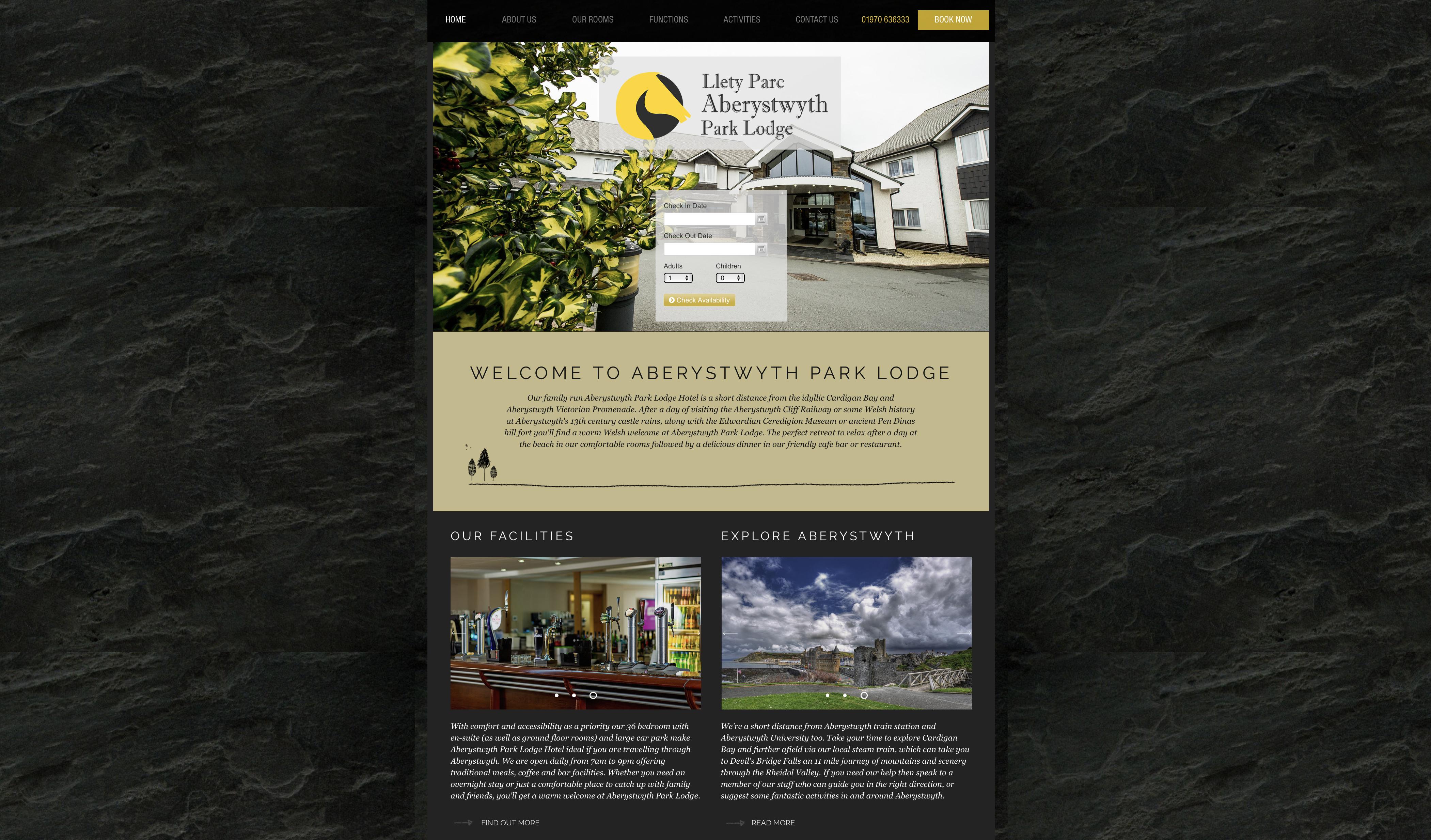 Modern websites in Aberystwyth