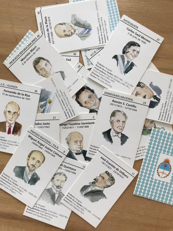 juego de cartas dePresidentes Argentinos