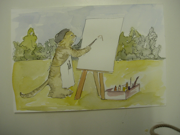 Pintando a Pierre