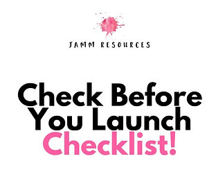 "Check Before You Launch""VA"" Checklist"