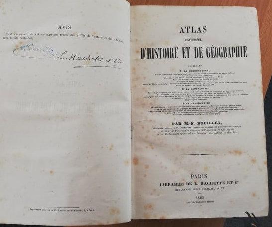 BOUILLET, ATLAS UNIVERSEL D'HISTOIRE ET DE GÉOGRAPHIE