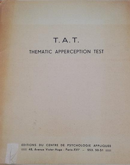 "Murray, Henri, Manuel du ""Thematic Apperception Test"""