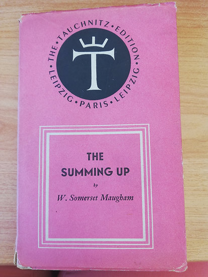 Somerset Maugham, W,  The Summing Up