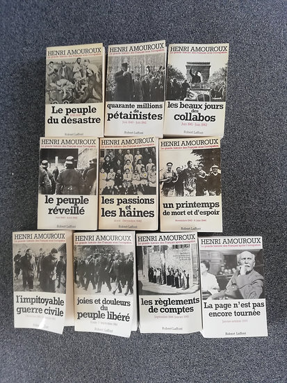 AMOUROUX,Henri, LA GRANDE HISTOIRE DES FRANÇAIS SOUS L'OCCUPATION