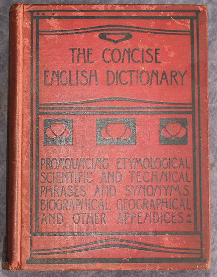 ANNANDALE, Charles, THE CONCISE ENGLISH DICTIONARY