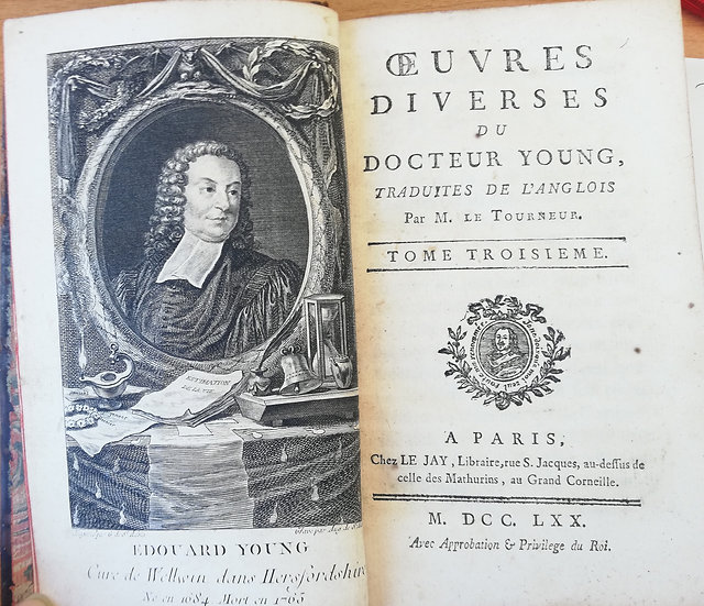 Letourneur J (trad), Oeuvres diverses du docteur Young