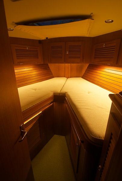 Indirect lighting in a Hallberg Rassy 46 boat