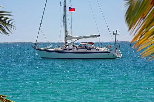 Mahina Tiare anchored in Samoa