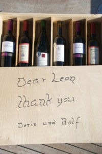 A box with wine