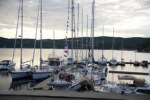 Boats in waiting position