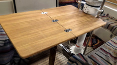 Adams Boat Care's new folding cockpit table for a HR 352