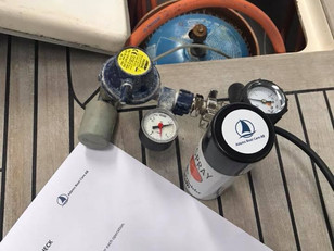 Safety first! Get us to check your gas system before you sail for the season