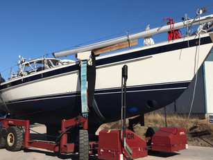 The first boat for the season, an HR46, is to be launched after an extensive winter refit