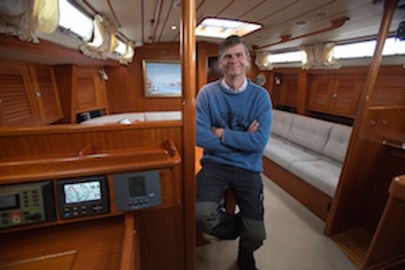 Leon Schulz and the LED lighting on his Hallberg Rassy 46