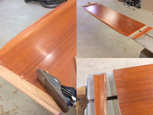 Carl Adams is fixing a broken saloon table to be as good as new. That's craftsmanship on a high