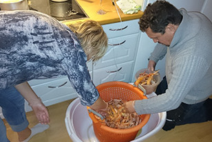 Preparing for the Crayfish Party
