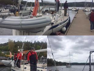 Sea bear legend Captain Ziemovit Baranski and his crew leaving us on Blue Daisy for a new season of