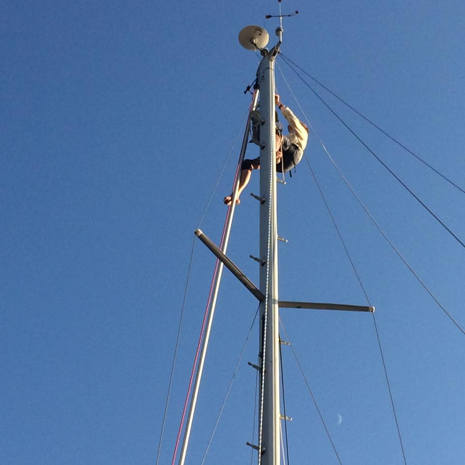 Rigger thinks we need an extra fair lead in the spinnaker halyard.