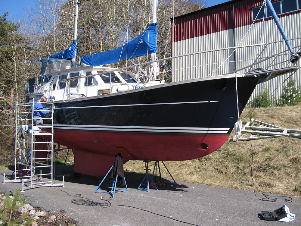 A Nauticat is serviced by Adams Boat Care