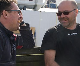 Carl, the owner and Christer, Chief Engineer