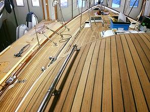 A new teak deck
