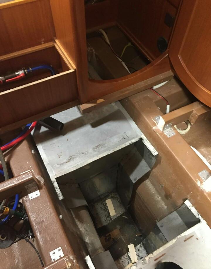 Adams boat care, boat refit, separated tanks