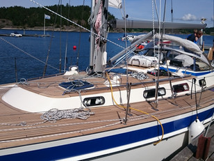 The Hallberg Rassy 46 Original Classic Restauration. The stainless steel edition.