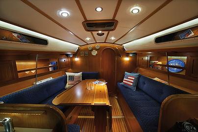 New lighting system in a Hallberg Rassy 46 boat.