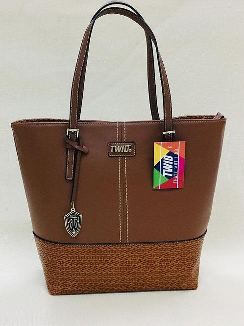 Mahogany Brown Genuine Leather TWID bag/purse