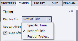 Timing objects in Adobe Captivate